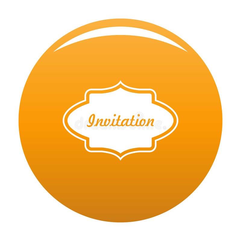 Προσκαλέστε το διανυσματικό πορτοκάλι εικονιδίων ετικετών απεικόνιση αποθεμάτων
