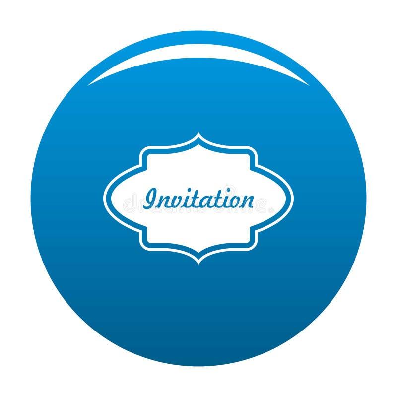 Προσκαλέστε το μπλε εικονιδίων ετικετών ελεύθερη απεικόνιση δικαιώματος