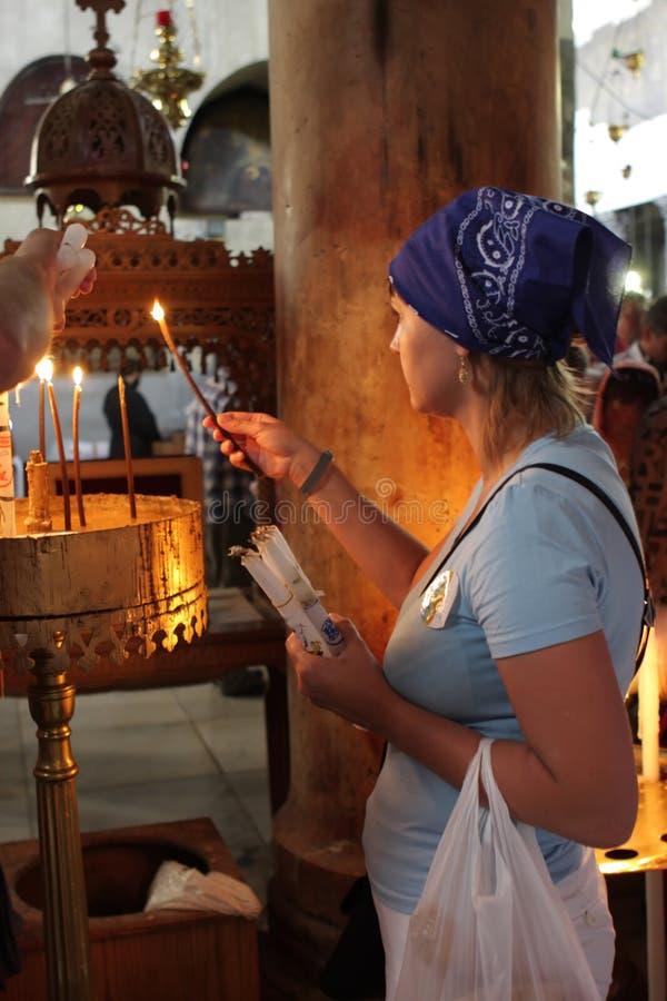 προσκυνητής nativity εκκλησιών στοκ φωτογραφίες