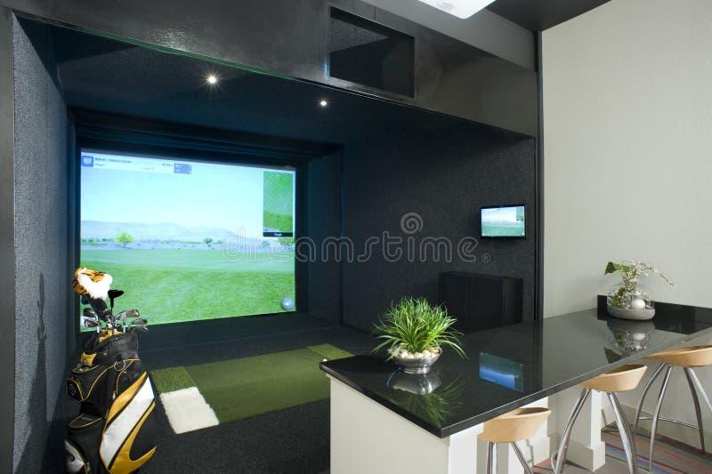 Προσομοιωτής γκολφ στοκ εικόνες με δικαίωμα ελεύθερης χρήσης