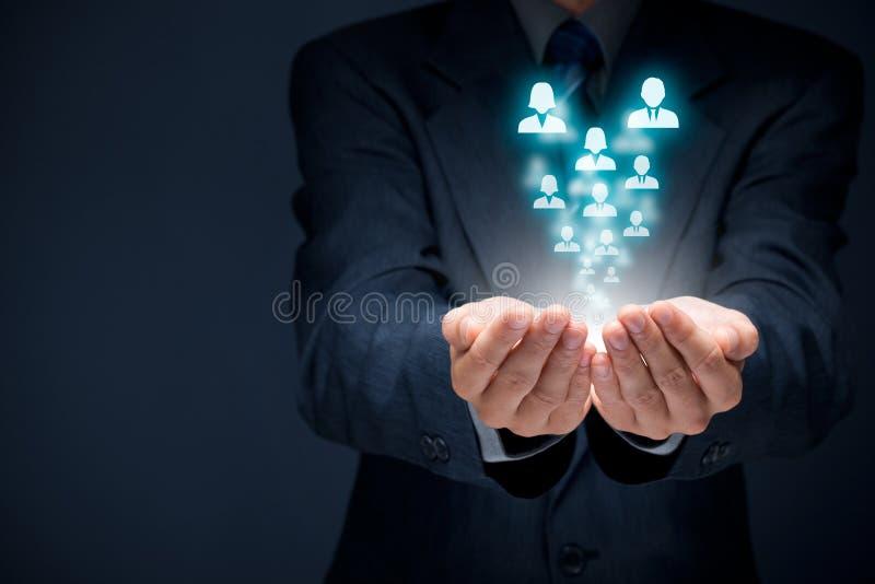 Προσοχή ανθρώπινων δυναμικών και πελατών στοκ φωτογραφία με δικαίωμα ελεύθερης χρήσης