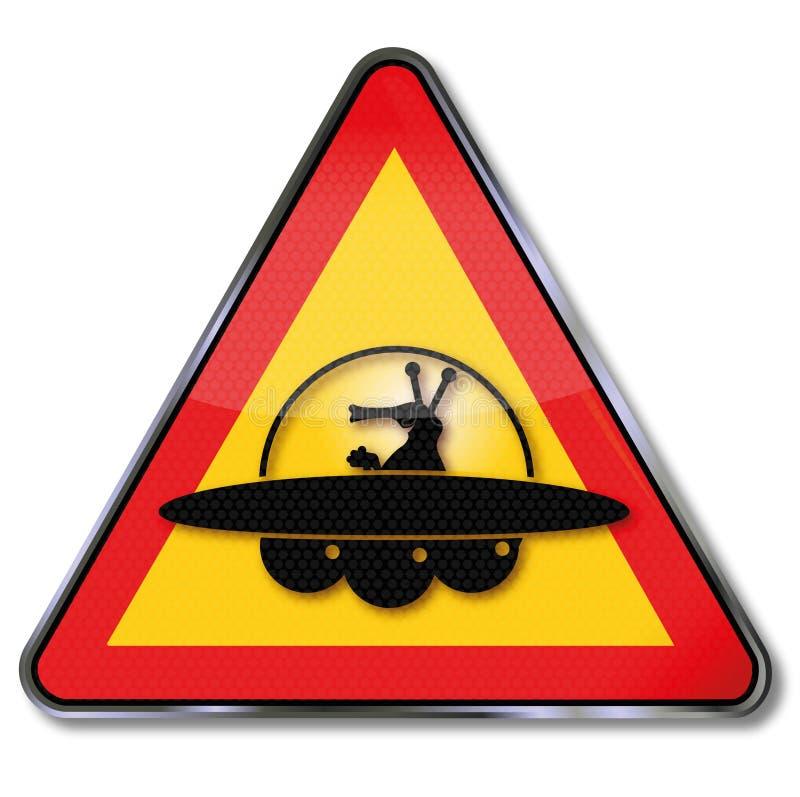 Προσοχή Αριανοί και ufo ελεύθερη απεικόνιση δικαιώματος