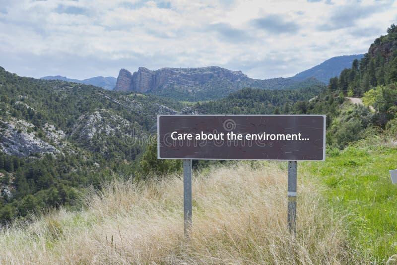 Προσοχή για το περιβάλλον στοκ εικόνα