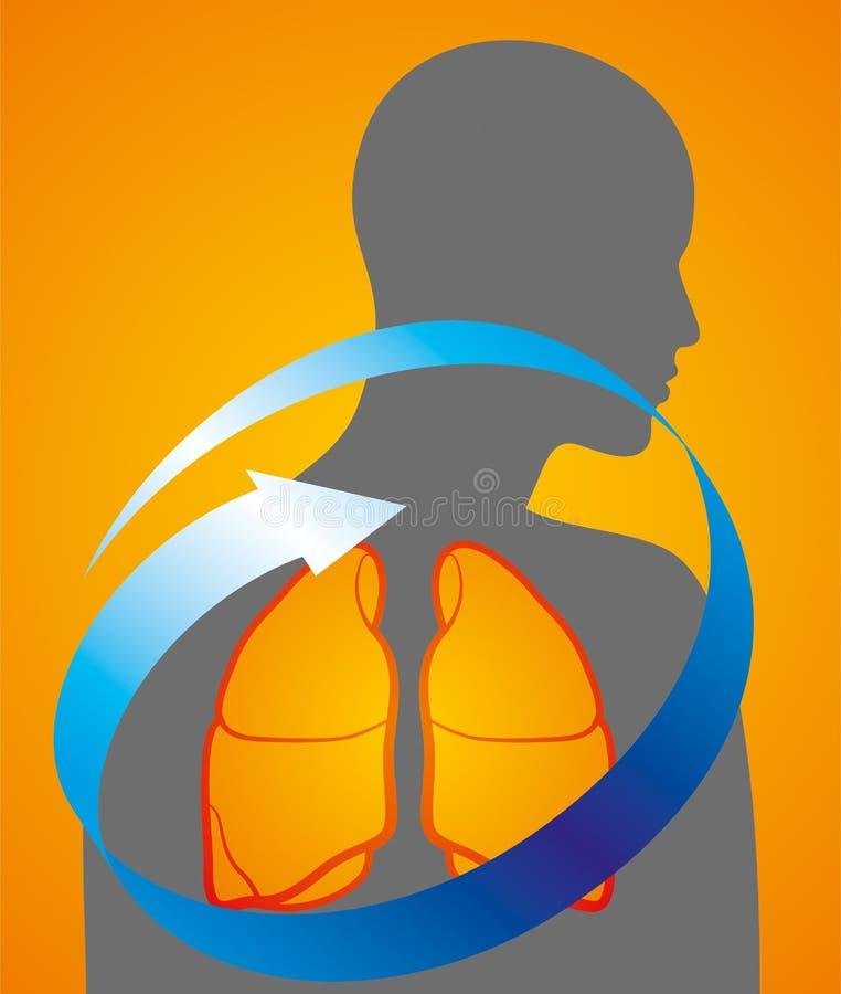 Προσοχή πνευμόνων ιατρικής διανυσματική απεικόνιση