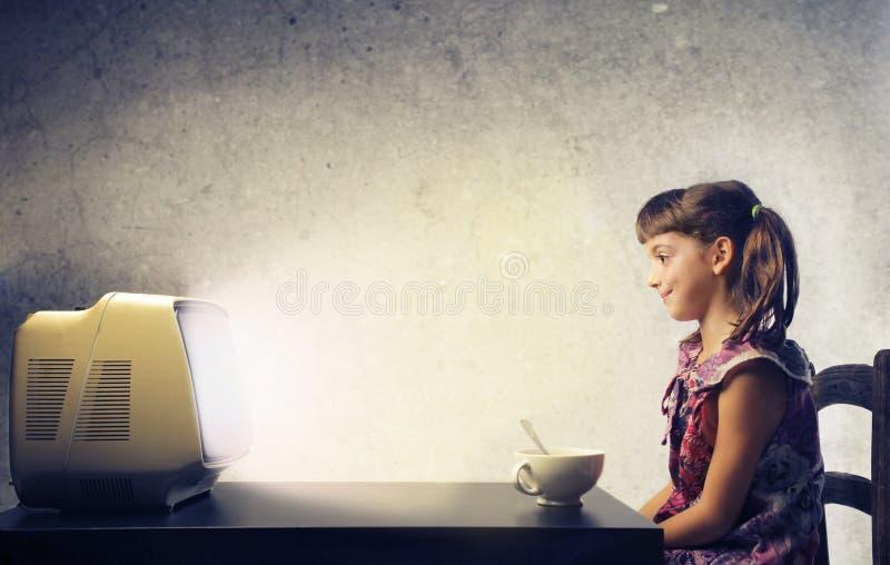 Προσοχή της TV στοκ φωτογραφία με δικαίωμα ελεύθερης χρήσης