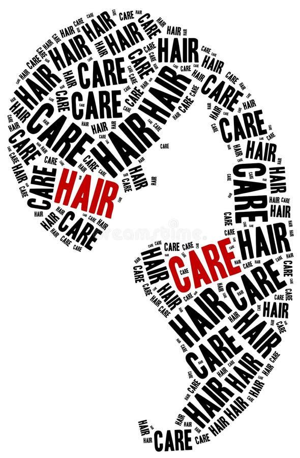 Προσοχή τριχώματος Hairdressing έννοια ελεύθερη απεικόνιση δικαιώματος