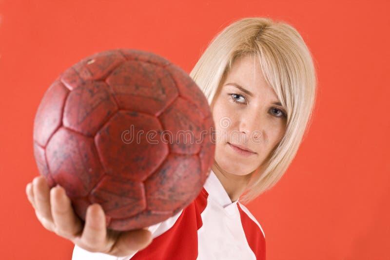 Download προσοχή φορέων χάντμπολ σφ&alp Στοκ Εικόνες - εικόνα από θηλυκό, παιχνίδια: 17056474
