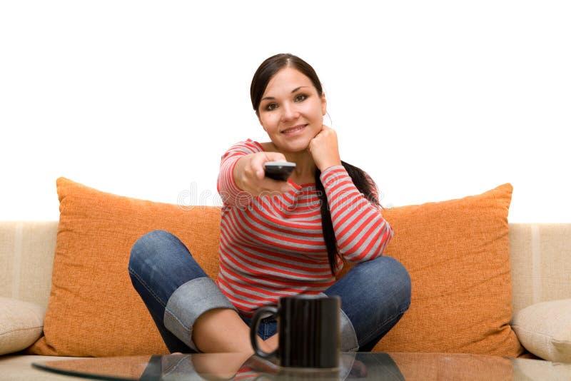 προσοχή TV στοκ εικόνα με δικαίωμα ελεύθερης χρήσης