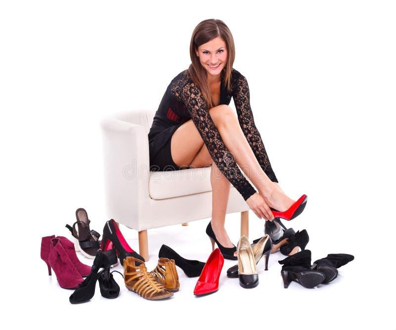 Προσπάθεια στα παπούτσια στοκ φωτογραφία με δικαίωμα ελεύθερης χρήσης