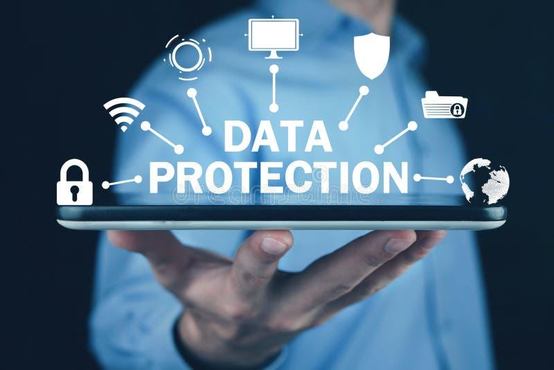 Προστασία δεδομένων Έννοια Διαδικτύου και της τεχνολογίας Ασφάλεια στοκ φωτογραφία