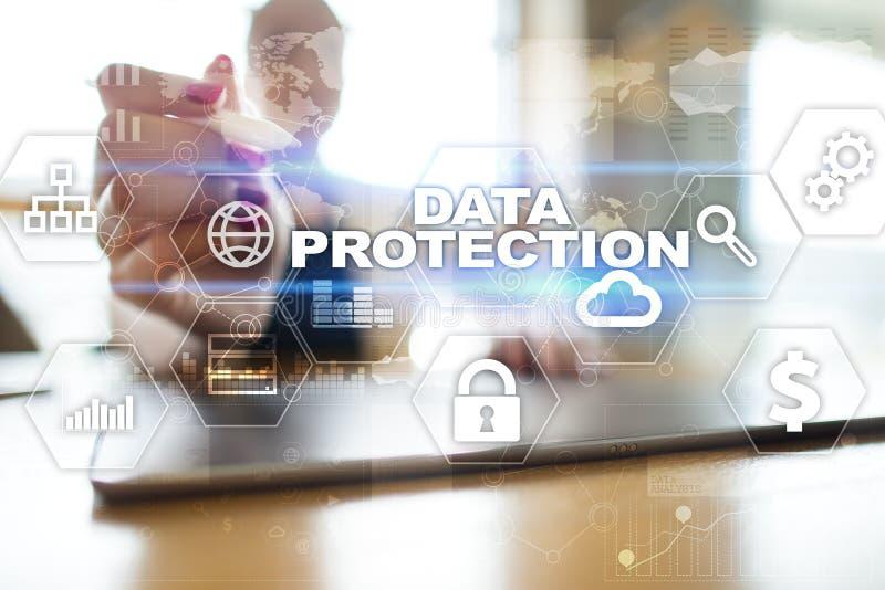 Προστασία δεδομένων, προστασία Cyber, ασφάλεια πληροφοριών και κρυπτογράφηση στοκ εικόνα