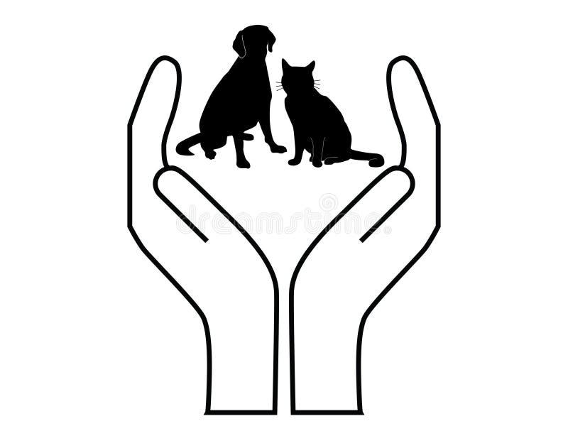 προστασία κατοικίδιων ζώ&om διανυσματική απεικόνιση