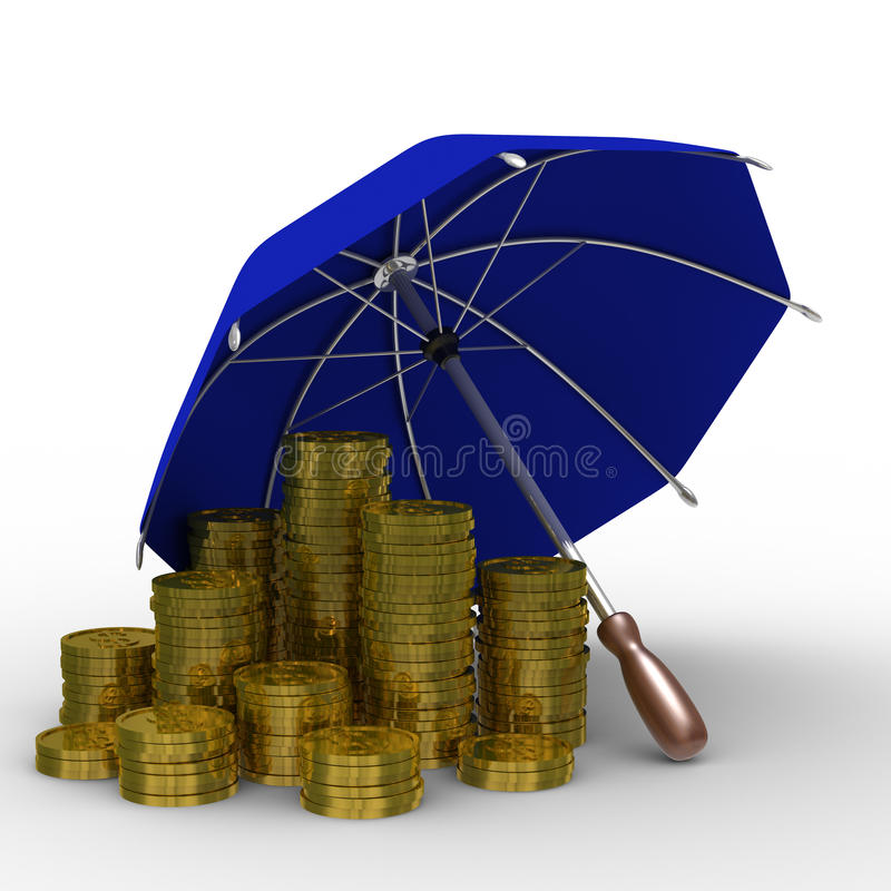 προστασία χρημάτων διανυσματική απεικόνιση