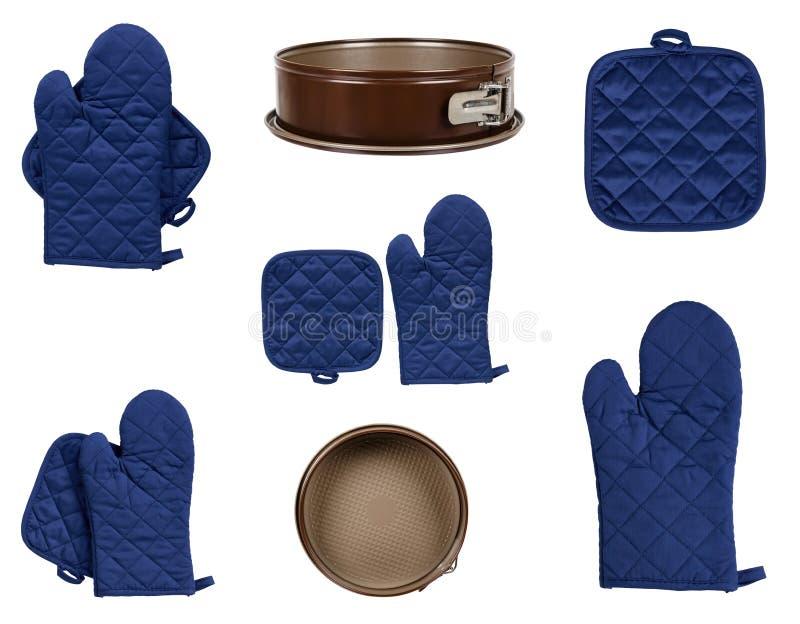 Προστατευτικά γάντια και γάντι πυγμαχίας για το backery, το σύνολο και τη συλλογή στοκ φωτογραφίες