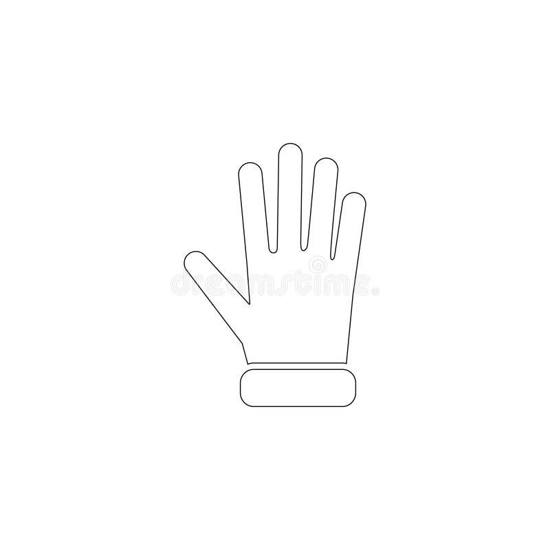 Προστατευτικό γάντι επίπεδο διανυσματικό εικονίδιο απεικόνιση αποθεμάτων