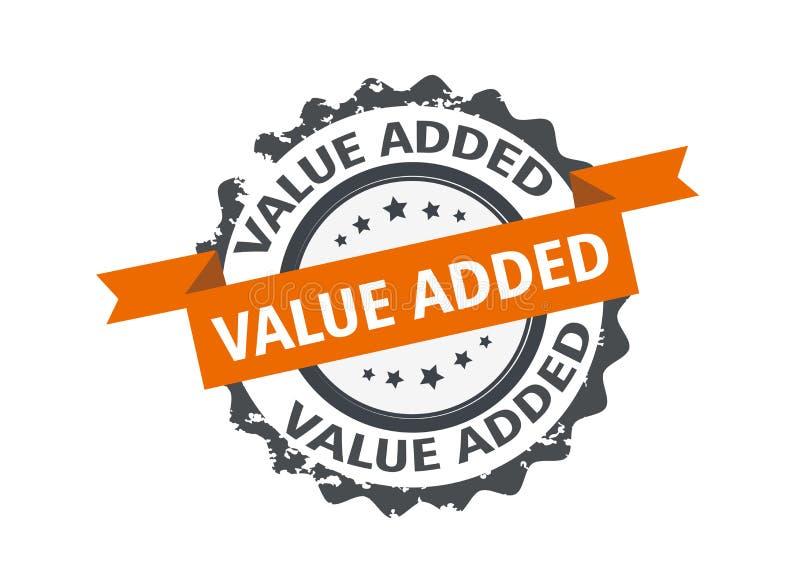 Προστιθεμένης αξίας γραμματόσημο Σημάδι διάνυσμα απεικόνιση αποθεμάτων