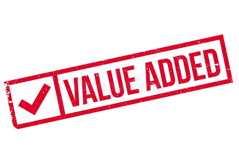 Προστιθεμένης αξίας γραμματόσημο ελεύθερη απεικόνιση δικαιώματος