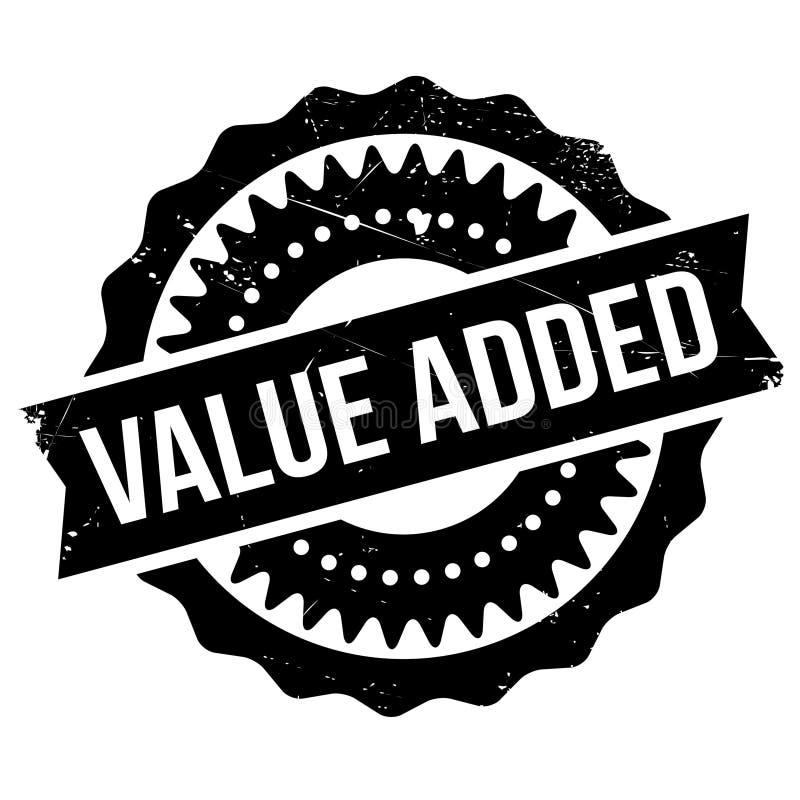 Προστιθεμένης αξίας γραμματόσημο διανυσματική απεικόνιση