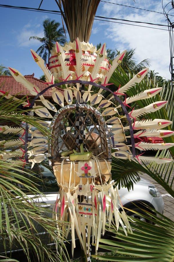 Προσφορά στο ναό Pura Goa Lawah, Μπαλί, Ινδονησία στοκ φωτογραφίες με δικαίωμα ελεύθερης χρήσης