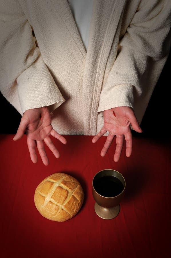προσφορά του Ιησού κοιν&omeg στοκ εικόνες