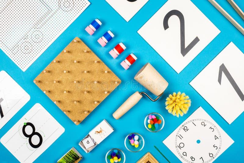 Προσχολικά εργαλεία Montessori στοκ εικόνες