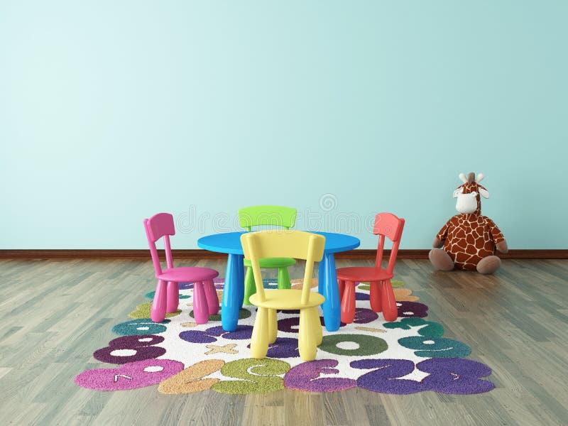 Προσχολικό δωμάτιο παιδιών διανυσματική απεικόνιση