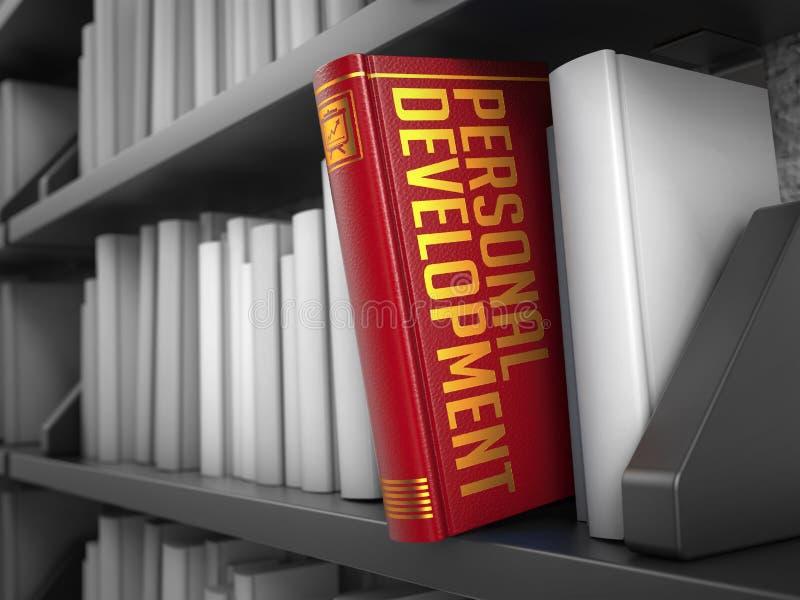 Προσωπική ανάπτυξη - τίτλος του βιβλίου απεικόνιση αποθεμάτων
