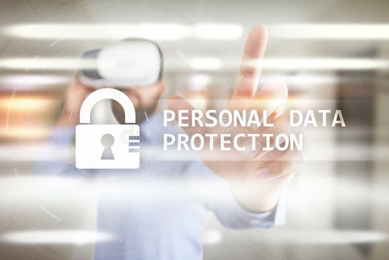 Προσωπική προστασία δεδομένων, ασφάλεια Cyber και ιδιωτικότητα πληροφοριών GDPR στοκ εικόνες
