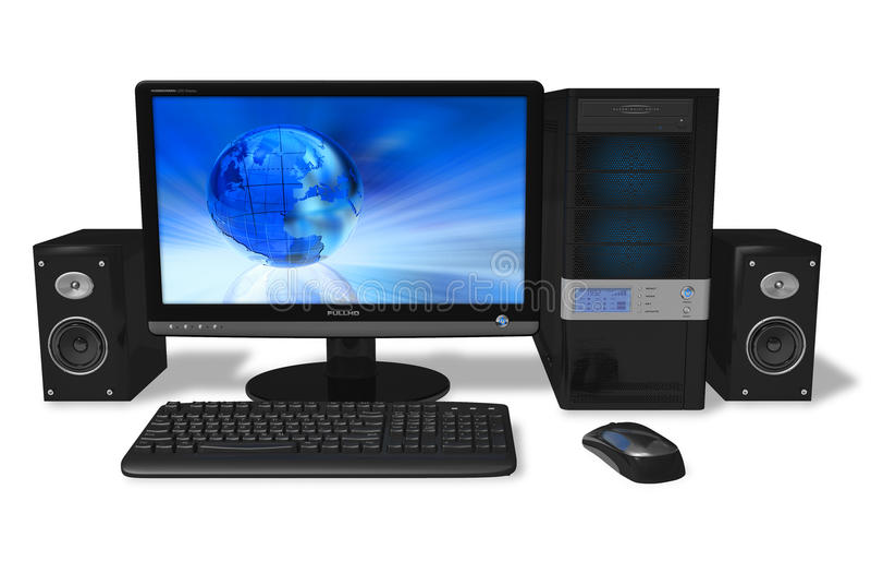 προσωπικός υπολογιστή&sigma ελεύθερη απεικόνιση δικαιώματος