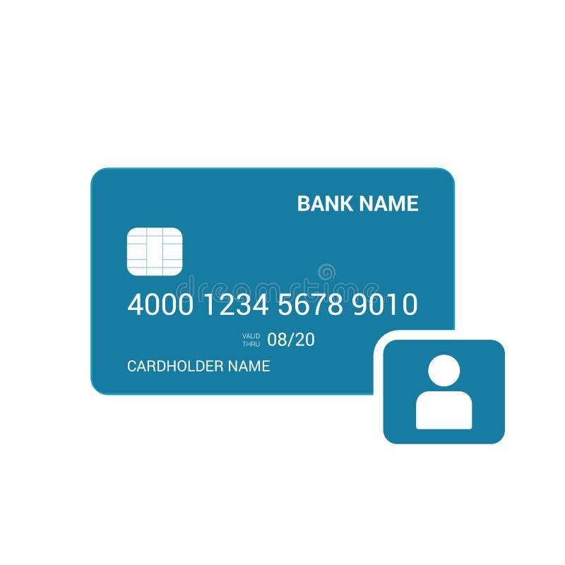Προσωπικό εικονίδιο χρηστών τραπεζικών καρτών απεικόνιση αποθεμάτων