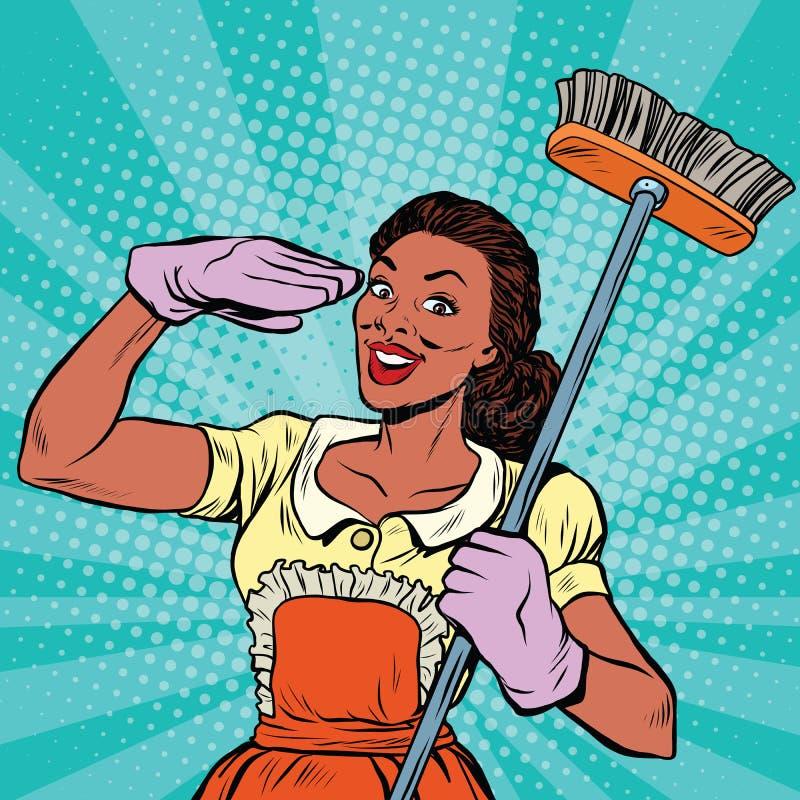 Προσωπικό καθαριότητας εργαλεία οικιακού εξοπλισμού διανυσματική απεικόνιση