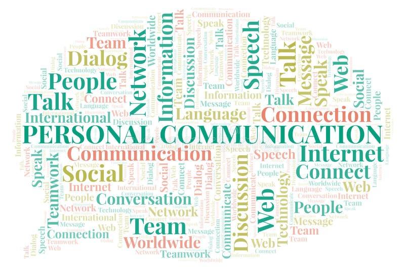 Προσωπικό σύννεφο λέξης επικοινωνίας ελεύθερη απεικόνιση δικαιώματος