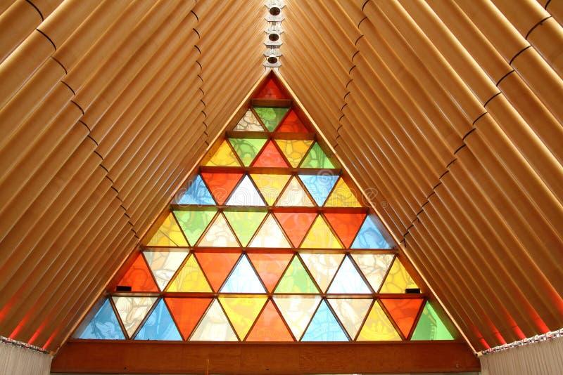 Προσωρινός καθεδρικός ναός χαρτονιού Christchurch, Νέα Ζηλανδία στοκ φωτογραφία