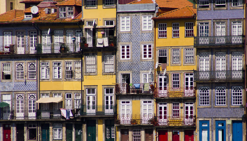 Προσόψεις Πορτογαλία του Πόρτο στοκ εικόνες με δικαίωμα ελεύθερης χρήσης