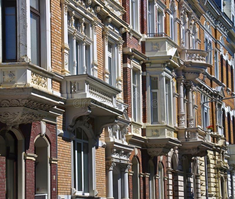 Προσόψεις σπιτιών, Gruenderzeit στοκ εικόνα με δικαίωμα ελεύθερης χρήσης