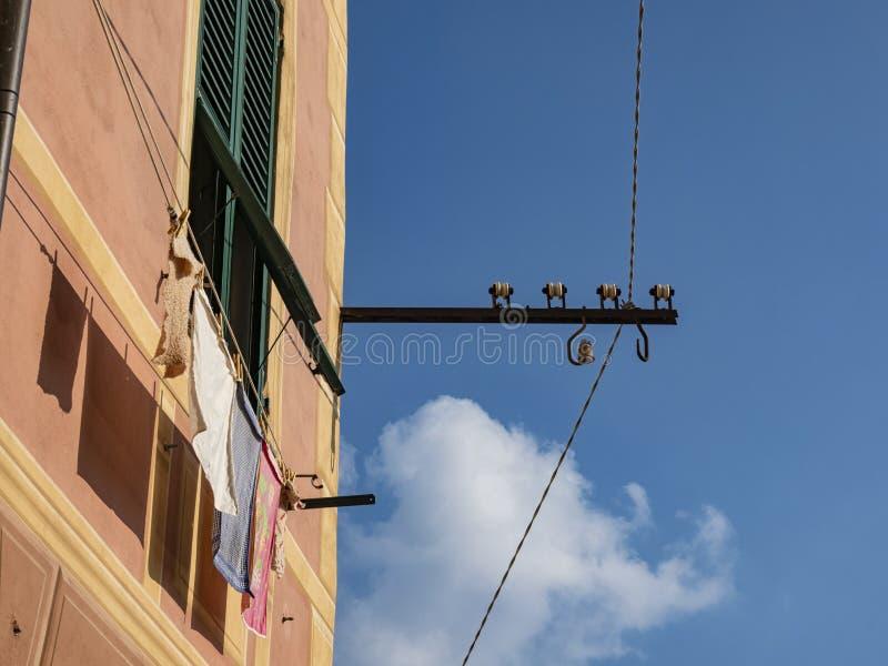 Προσόψεις Camogli στοκ εικόνες