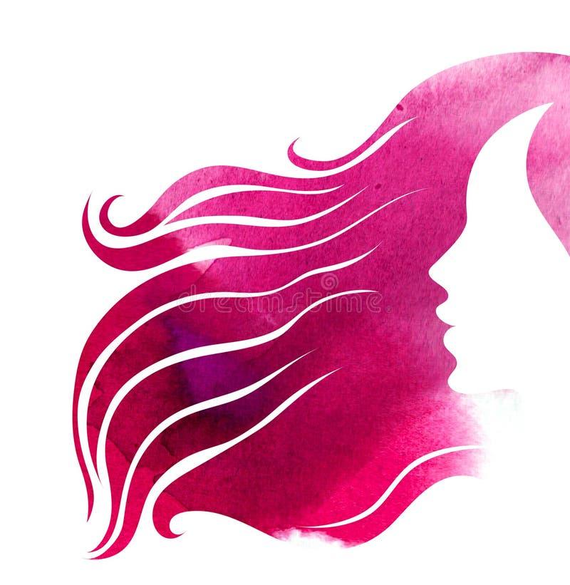 Προσδιορισμός τρίχας για τη γυναίκα διανυσματική απεικόνιση