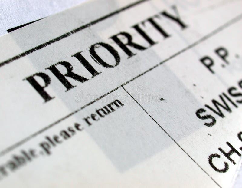 προτεραιότητα ταχυδρομ&epsi στοκ φωτογραφία