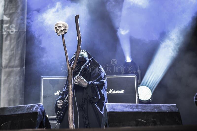 Προφητείες Undead σε Hellfest 2016 στοκ εικόνα