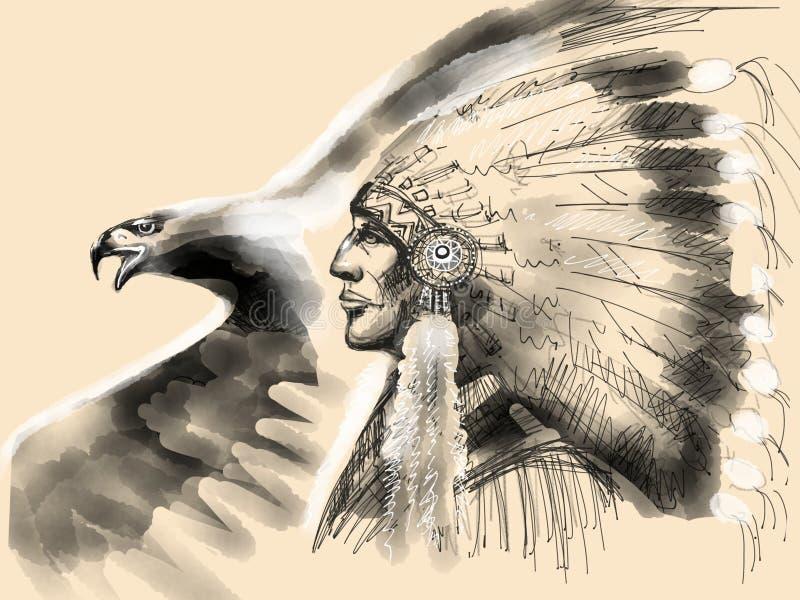 Προϊστάμενος αμερικανών ιθαγενών ελεύθερη απεικόνιση δικαιώματος