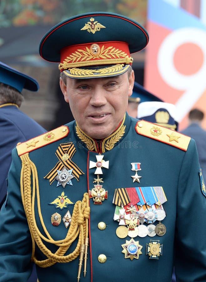 Προϊστάμενος του Γενικού Επιτελείου του ρωσικού Υπουργού αναπληρωτή υπεράσπισης οπλισμένων δυνάμεων πρώτου, στρατός στρατηγός Val στοκ φωτογραφίες