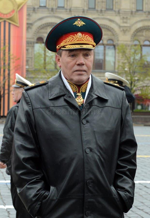 Προϊστάμενος του Γενικού Επιτελείου του ρωσικού Υπουργός αναπληρωτή υπεράσπισης οπλισμένων δυνάμεων ※ πρώτος, στρατός στρατηγός στοκ εικόνες με δικαίωμα ελεύθερης χρήσης