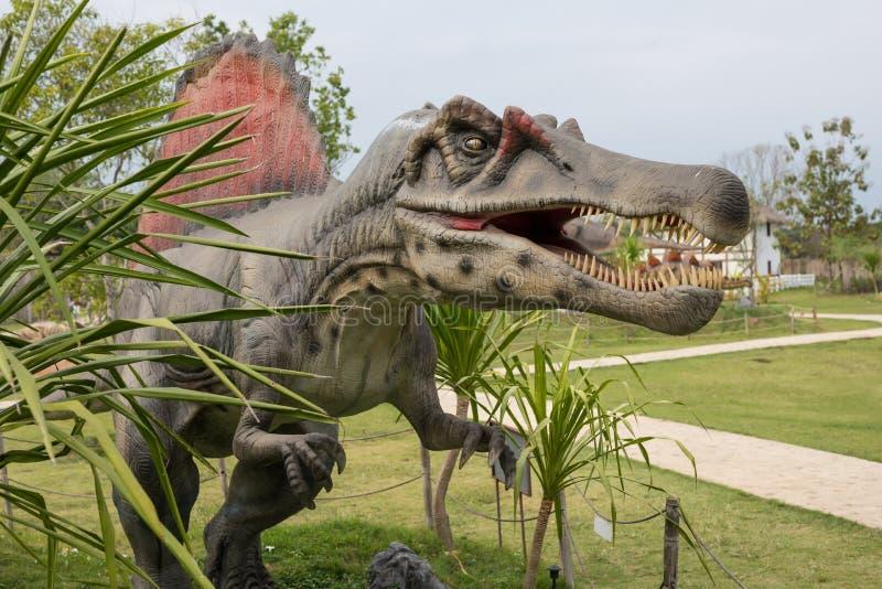Προϊστορικός δεινόσαυρος εποχής Πάρκο περιπέτειας στοκ φωτογραφία