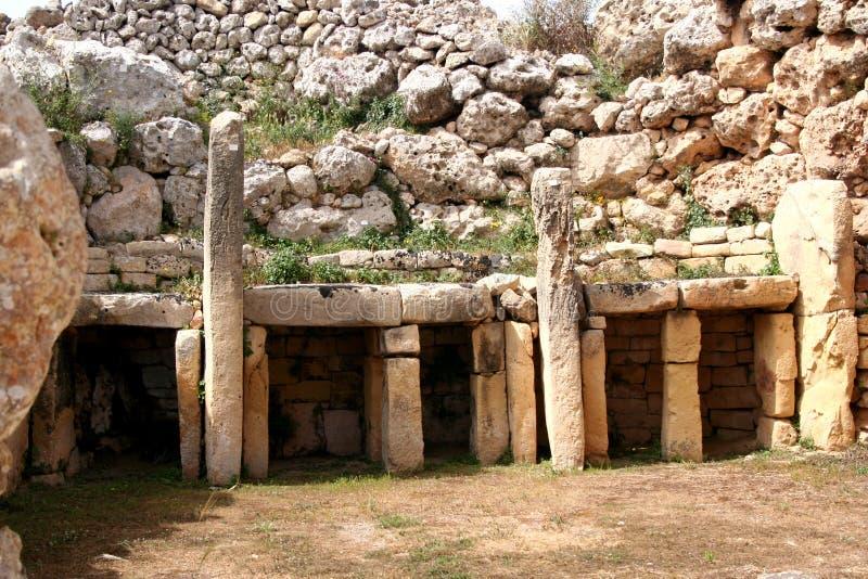 προϊστορικός ναός ggantija στοκ φωτογραφία με δικαίωμα ελεύθερης χρήσης
