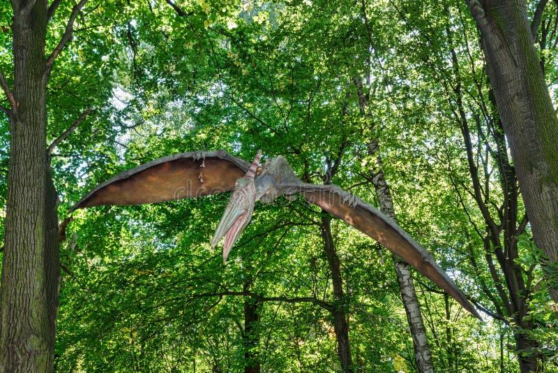 Προϊστορικός πετώντας δεινόσαυρος Pteranodon στη φύση στοκ φωτογραφίες με δικαίωμα ελεύθερης χρήσης