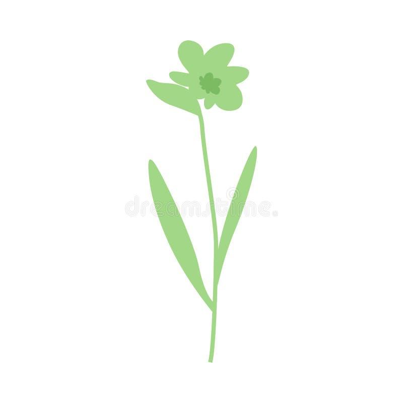 Προϊστορικό ή πράσινο διανυσματικό λουλούδι φαντασίας απεικόνιση αποθεμάτων