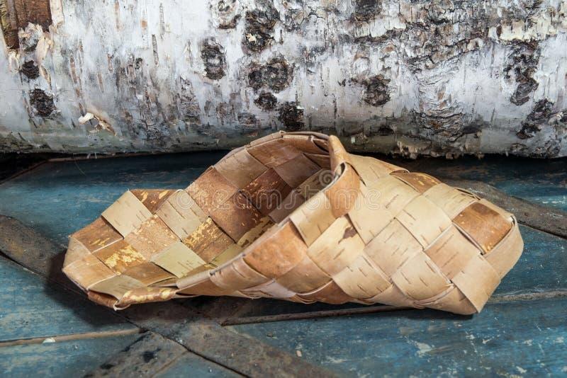 Προϊόντα από το φλοιό σημύδων στοκ φωτογραφία με δικαίωμα ελεύθερης χρήσης