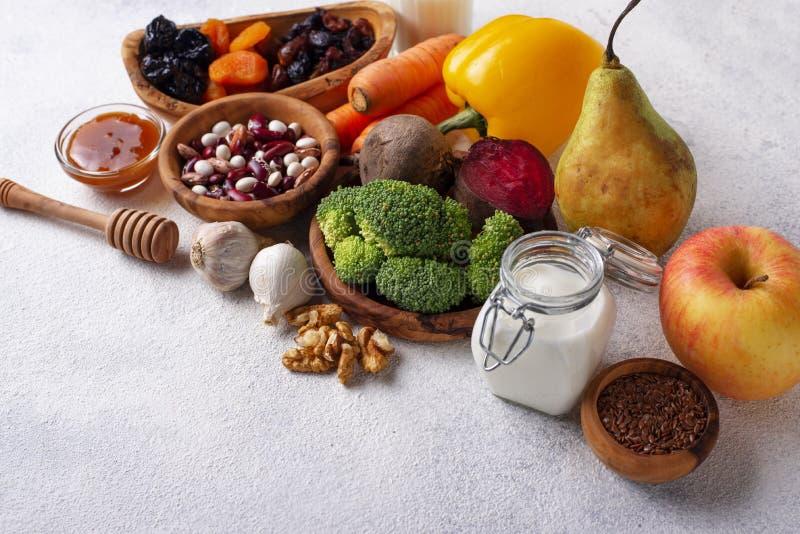 Προϊόντα για το υγιές έντερο Τρόφιμα για το έντερο στοκ φωτογραφίες