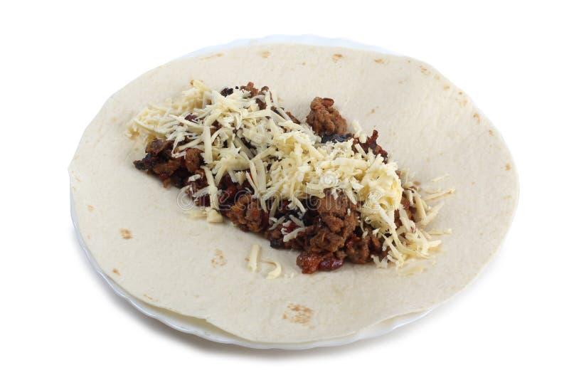 Προϊόντα για το burrito στοκ εικόνες με δικαίωμα ελεύθερης χρήσης
