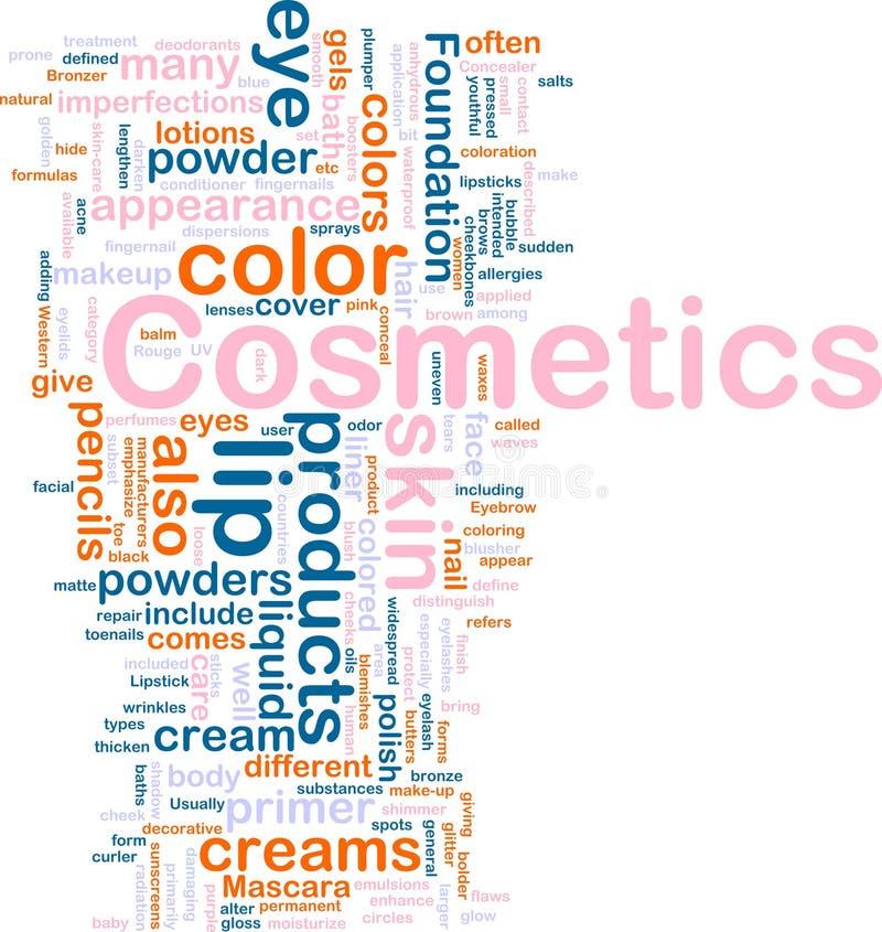 προϊόντα καλλυντικών έννοι&a διανυσματική απεικόνιση
